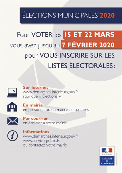 Impression inscription listes electorales affiche a4